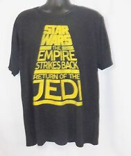 Star Wars The Empire Strikes Back Return of the Jedi Men's Black T-Shirt XL NWT