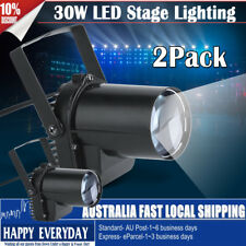 2Pack 30W LED White Stage Light  Pin Spot Club DJ Pub Bar Show Wedding Effect