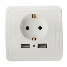 Placa de cargador de pared con puerto USB 2 de enchufe doble de la-UE 1 PCS