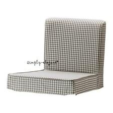 Ikea COVER for Henriksdal Bar stool Slipcover Sågmyra Gray check Grey cover New