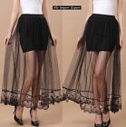 Mini Gonna Donna Tulle Pizzo Lungo Trasparente Woman Tulle Maxi Skirt 130040