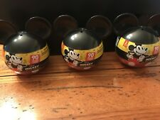 Disney MICKEY MOUSE True Original 90 Years 2PK Collectible Mini Figures Lot of 3