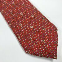 Authentic HERMÈS 100% Silk Tie Necktie Dutch Windmills Tulips 7970 France Hermes