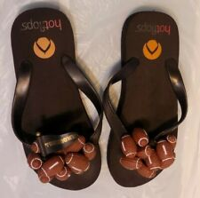 Hotflops Football Flip Flops Beach Thong Sandals Size Women's S 5-6