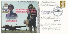 More details for dambuster raid - 617 squadron - 5 x aircrew signed cover - guy gibson