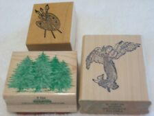 Rubber Stamp Angel, Rubber Stamp Trees