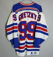 NEW YORK RANGERS NHL STARTER HOCKEY JERSEY SHIRT WHITE #99 WAYNE GRETZKY SIZE L