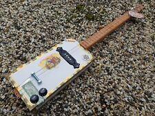 CIGAR BOX GUITAR - 3- STRING- HAND CRAFTED BY SALTY DOG CBG-FREE SLIDE