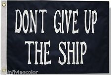 "Commodore Perry 12X18"" Boat Flag NEW Don't Give Up the Ship"