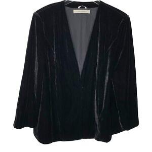 MARINA RINALDI  size 29 black velvet jacket blazer US size 20