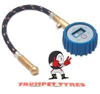Digital Tyre Pressure Gauge 0 - 100 Psi | Reads In Psi, Bar, kg-cm & kPa | 2961