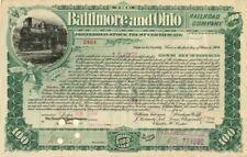 Transfer to John W. Gates - Baltimore and Ohio Railroad Company