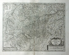 BADEN WÜRTTEMBERG SCHWABEN BODENSEE LINDAU JANSSONIUS KUPFERSTICHKARTE 1658