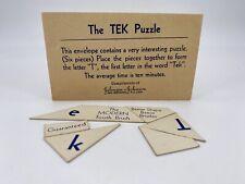 Vintage Johnson & Johnson TEK Puzzle Game