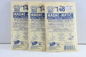 """Kadee #148 Metal """"Whisker"""" Magne-Matic Coupler - 3 Packages - HO Scale"""