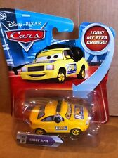 DISNEY CARS DIECAST-chef RPM avec changement de Eyes-RPM crew chief