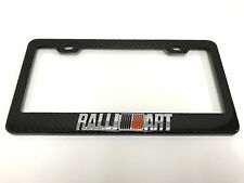 """3D """"RALLIART"""" Handmade REAL CARBON FIBER License Plate Frame Tag Cover 3K TWILL"""