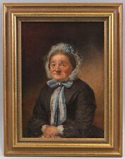 8560024 Öl-gemälde Ritratto uno più Vecchi Donna in Spitzenhaube Metà 19. Jh