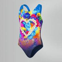 Speedo Placement Digital Splashback Swimsuit Junior Girls Swimming Costume