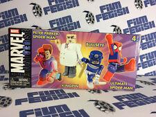Marvel Universe MiniMates Toys 4-Pack Peter Parker Spider-Man Kingpin Bullseye