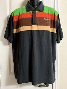 BURGER KING Retro Polo Shirt Unisex XL Store Employee Work Uniform Vintage Style