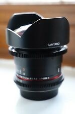 Samyang 14mm T3.1 Cine Wide Angle Lens for Canon EF - PERFECT CONDITION