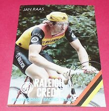 CARTE JAN RAAS TI-RALEIGH CREDA 1981 CYCLISME CICLISMO WIELRENNEN