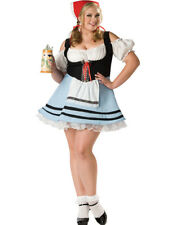 Sexy Oktoberfest German Beer Maid Girl Plus Size Halloween Costume 2Xl