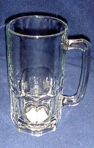 "NEW•Anchor Hocking•34 oz/1 liter•GUSTO#1 Quality Glass•Beer Mug•USA•8""x4""•UNUSED"