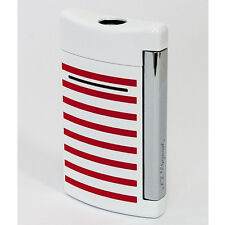 S.T. Dupont MiniJet Lighter, White With Stripes, 10108 (010108) New In Box