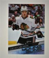 2020-21 UD Series 1 Clear Cut Young Guns #212 Lucas Carlsson RC