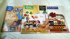 LOT of 3 HOLIDAY GIFT CATALOGS WALMART TOYS UNO ALLA VOLTA WINE COUNTRY ARTISAN