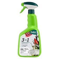 Safer Brand 5452 3-in-1 32-Ounce Ready-to-Use Garden Spray 5452-6