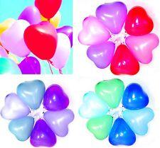 100 Herz Luftballons Herzen 30cm Hochzeit Kindergeburtstag Party MIX Farbe NEU