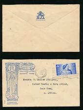 GB MUSIC ILLUSTRATED ENVELOPE WILLIAMS PERFIN W on 1948 SILVER WEDDING to CAPE