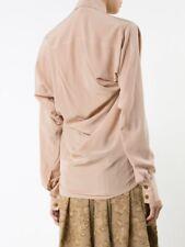 VIVIENNE WESTWOOD RED LABEL Squiggle Krall BeigeSilk Blouse Shirt SizeIT42(UK10)