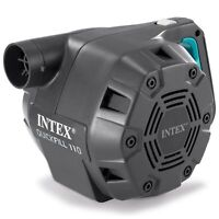 Intex Quick-Fill Ac Electric Air Pump High-flow 120v Ac Powered 3 Nozzle Mattres