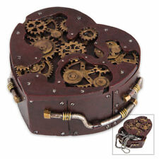 NEW Heart-Shaped Steampunk TRINKET BOX
