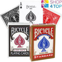 2 DECKS BICYCLE RIDER BACK STANDARD INDEX PLAYING CARDS 1 RED 1 BLACK USPCC NEW