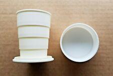 Vintage Soviet Union Folding Mug Cup Plastic for Travel Camping 1970's Souvenir.