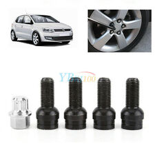4+1 M14 Auto Car Wheel Bolt & Lock Lug Nut Set With Key New For VW Golf Jetta