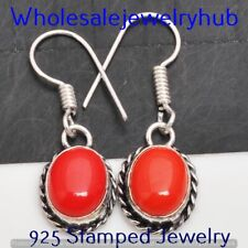 Plated Earring Jewelry Sme-10-352 Coral Earring 925 Sterling Silver