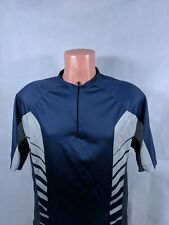 Fox Cycling Jersey Sz Medium Blue Half Zip