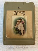 CARPENTERS SELF TITLED ALBUM 8 TRACK CASSETTE TAPE (TESTED WORKS AMAZING!)