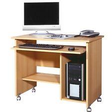 Germania Table d'ordinateur hêtre roulettes Bureau meubles de ordinateur