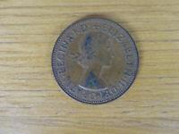 Queen Elizabeth II One Penny Coin 1962