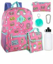 New Girls Lightning Bug Schoolyard 6-in-1 Backpack Lunch Kit Set