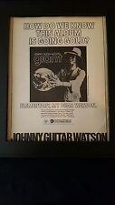 Johnny Guitar Watson Giant Rare Original Promo Poster Ad Framed!
