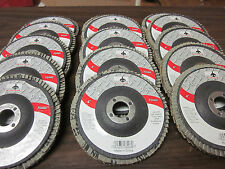 "15pc ASSORTMENT 4"" FLAP DISCS ANGLE GRINDER WHEELS 40 60 80 GRIT 5/8"" ARBOR"