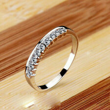 0.50 Ct Round Cut Simulated Moissanite Engagement Band Ring 14K White Gold Over